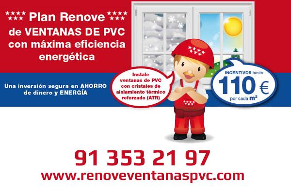 renove pvc - Plan renove ventanas de la Comunidad de Madrid