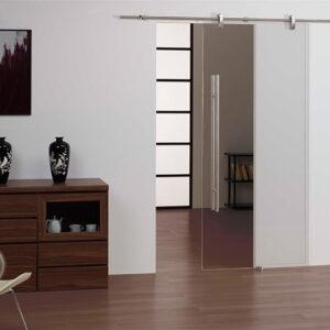 Puerta corredera cristal acero inox 300x300 - Puertas de cristal acero inoxidable