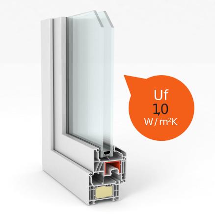 seccion ventana Top 76 Legend junta central termico - Ventanas y puertas PVC